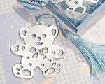 Lovable Teddy Bear Design Bookmarks - Blue wedding favors