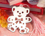Lovable Teddy Bear Design Bookmarks - Pink wedding favors