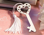 Book Lovers Collection Key Design Bookmark Favor wedding favors
