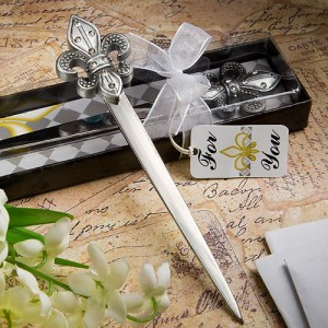 Exquisite Fleur Di Lis Letter Openers wedding favors