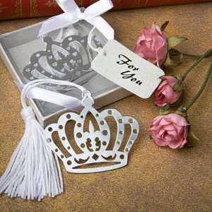 Crown Design Bookmark Favors wedding favors
