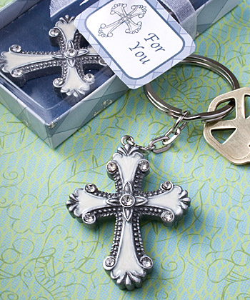 Cross Design Keychain Favors wedding favors