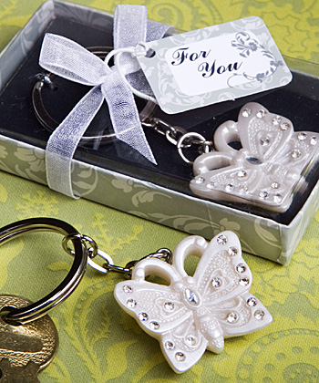 Butterfly Key Rings wedding favors
