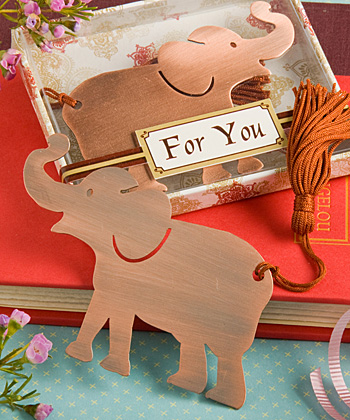 Alluring Elephant Bookmark Favor wedding favors