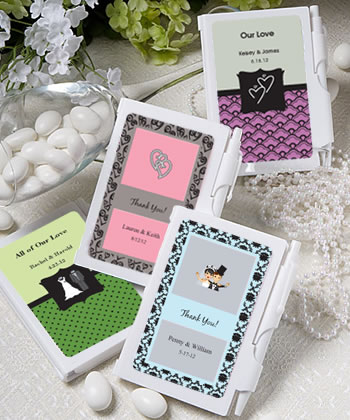 Personalized NoteBook Favors wedding favors