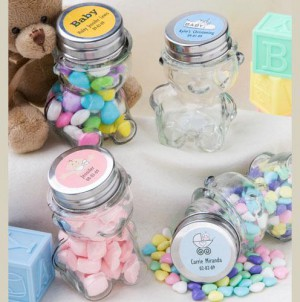 Personalized Teddy Bear Jars wedding favors