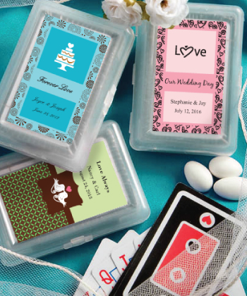 Personalized Expressions Playing Card Favors wedding favors