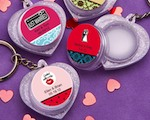 Personalized Expressions Collection Heart Design Lip Balm Key Chains wedding favors