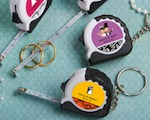 Personalized Expressions Collection Key Chain/measuring Tape Favors wedding favors