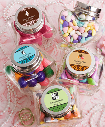 Personalized Expressions Collection Heart Shaped Glass Jars wedding favors