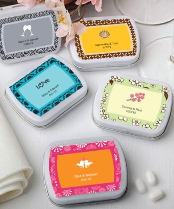 Personalized Expressions Collection Mint Tins wedding favors