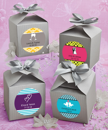 Design Your Own Collection Decorative Boxes - Silver wedding favors