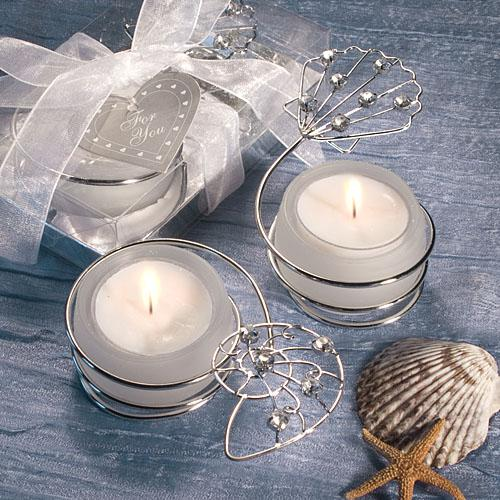 Shell Design Candle Holder Favors
