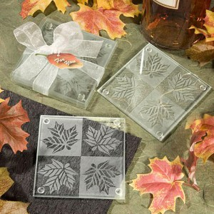 Fall Themed Coaster Favors wedding favors