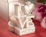 LOVE Design Candle Holder Favors wedding favors