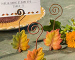 Leaf Design Place Card Holders wedding favors