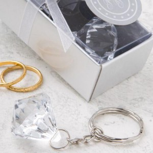Clear Diamond Collection Diamond Design Key Chain wedding favors
