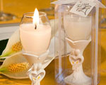 Stylish Bride And Groom Design Champagne Flute Candle Holder Favors wedding favors