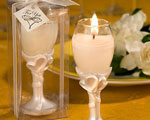 Double Heart Design Champagne Flute Candle Holders wedding favors