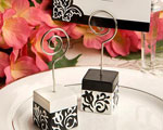 Black And White Damask Design Place Card Holders wedding favors