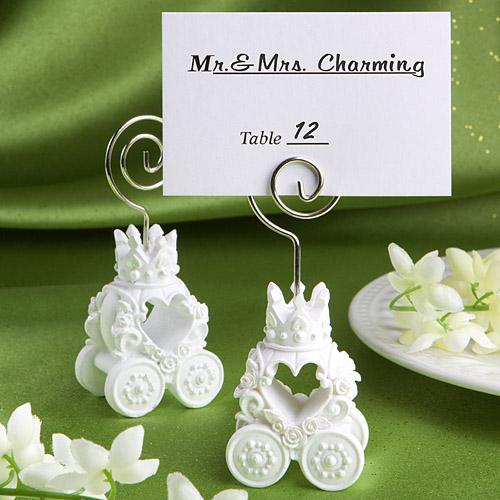 Royal Coach Design Place Card Holder Favors