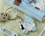 Blue Baby Carriage Design Key Chains wedding favors