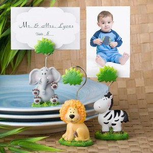 Jungle Critters Collection Place Card Holders wedding favors