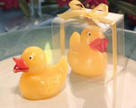 Yellow Duck Candle In Clear Box wedding favors