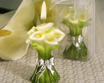 Calla Lily Design Candle Favors wedding favors
