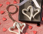 Interlocking Heart Design Favor Saver Key Chains wedding favors