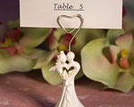 Enchanting Bride And Groom Design Favor Saver Place Card Holder wedding favors