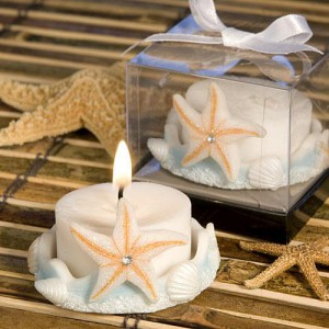 Starfish Design Favor Saver Candle Favors wedding favors