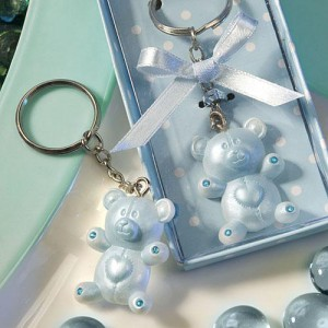 Blue Teddy Bear Design Favor Saver Key Chains wedding favors
