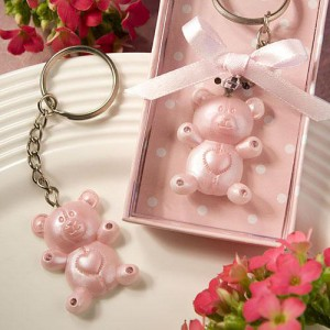 Pink Teddy Bear Design Favor Saver Key Chains wedding favors