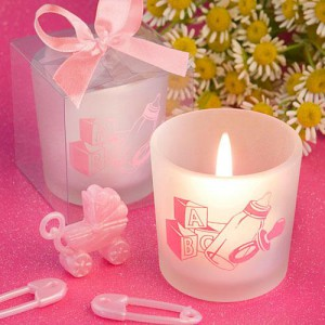 Favor Saver Collection Baby Girl Themed Candle Favors wedding favors