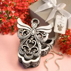 Angel Design Curio Box From The Heavenly Favors Collection wedding favors