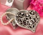 Exquisite Heart Shaped Curio Box wedding favors