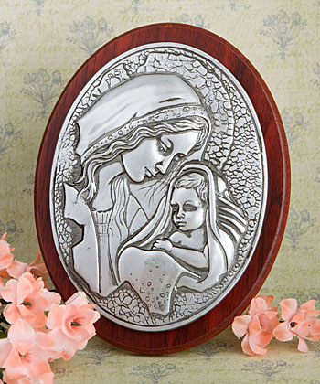 Madonna and Child Plaque wedding favors