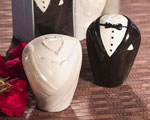 Adorable Bride & Groom Salt & Pepper Shaker Favors wedding favors
