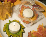 Autumn Themed Candle Favor wedding favors