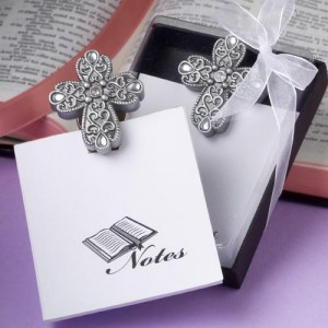 Cross Design Memo Pads wedding favors
