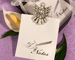 Angel Design Memo Pad Favors wedding favors