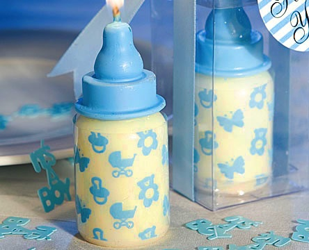 Blue Baby Bottle Candle Favors wedding favors
