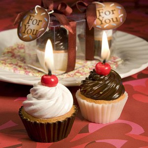 Yummy! Cupcake Candle Favors wedding favors