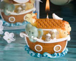 Noah's Ark Design Candles wedding favors