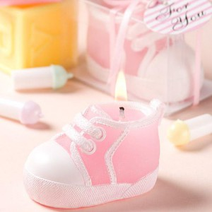 Pink Baby Bootie/Sneaker Design Candle wedding favors