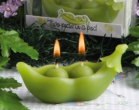 Two Peas In A Pod Collection Candles wedding favors