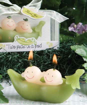Two Peas In A Pod Collection Candle Favors wedding favors