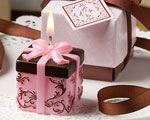 Brown And Pink Gift Box Collection Box Candle Favor wedding favors