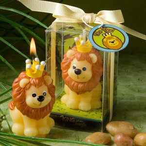 Adorable King Of The Jungle Collection Candle Favors wedding favors